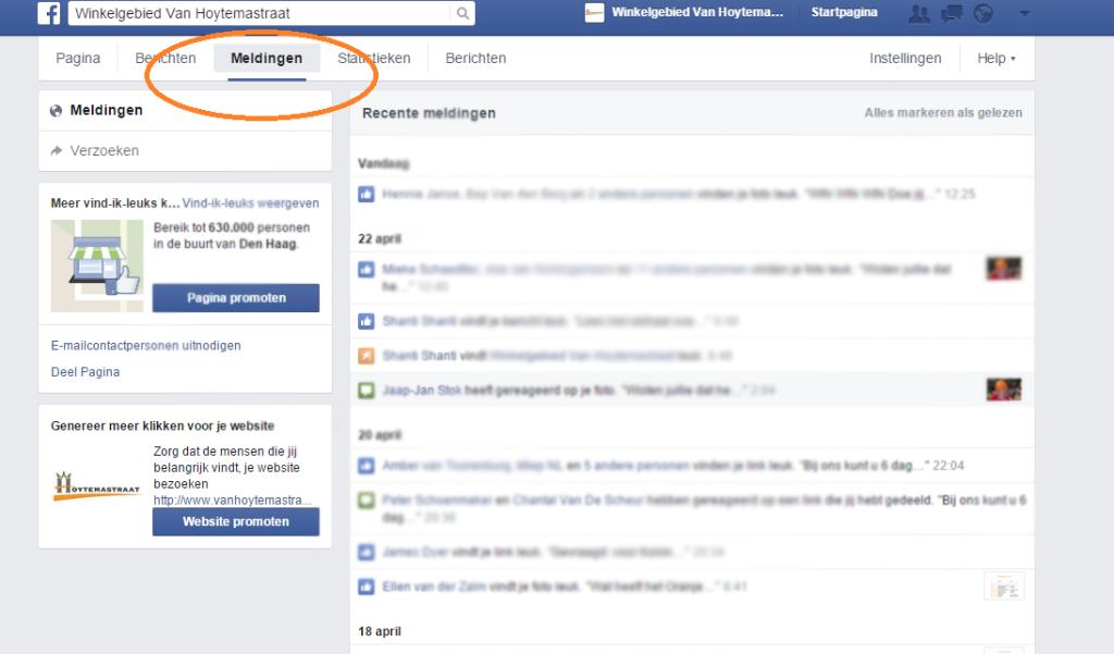 Facebook meldingen met brigitte resultaat met social media